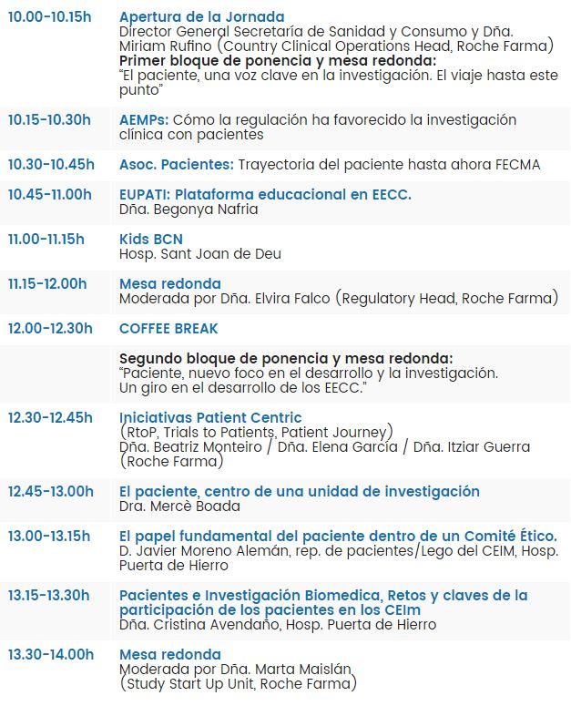 Agenda Foro Protagonistas Roche